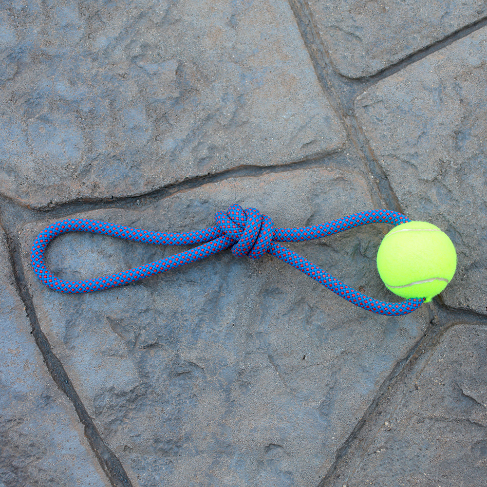 Climbing Rope Dog Toy - Single Ball | Seeds for Kindness | Upcycled, Recycled, Repurposed, Reimagined