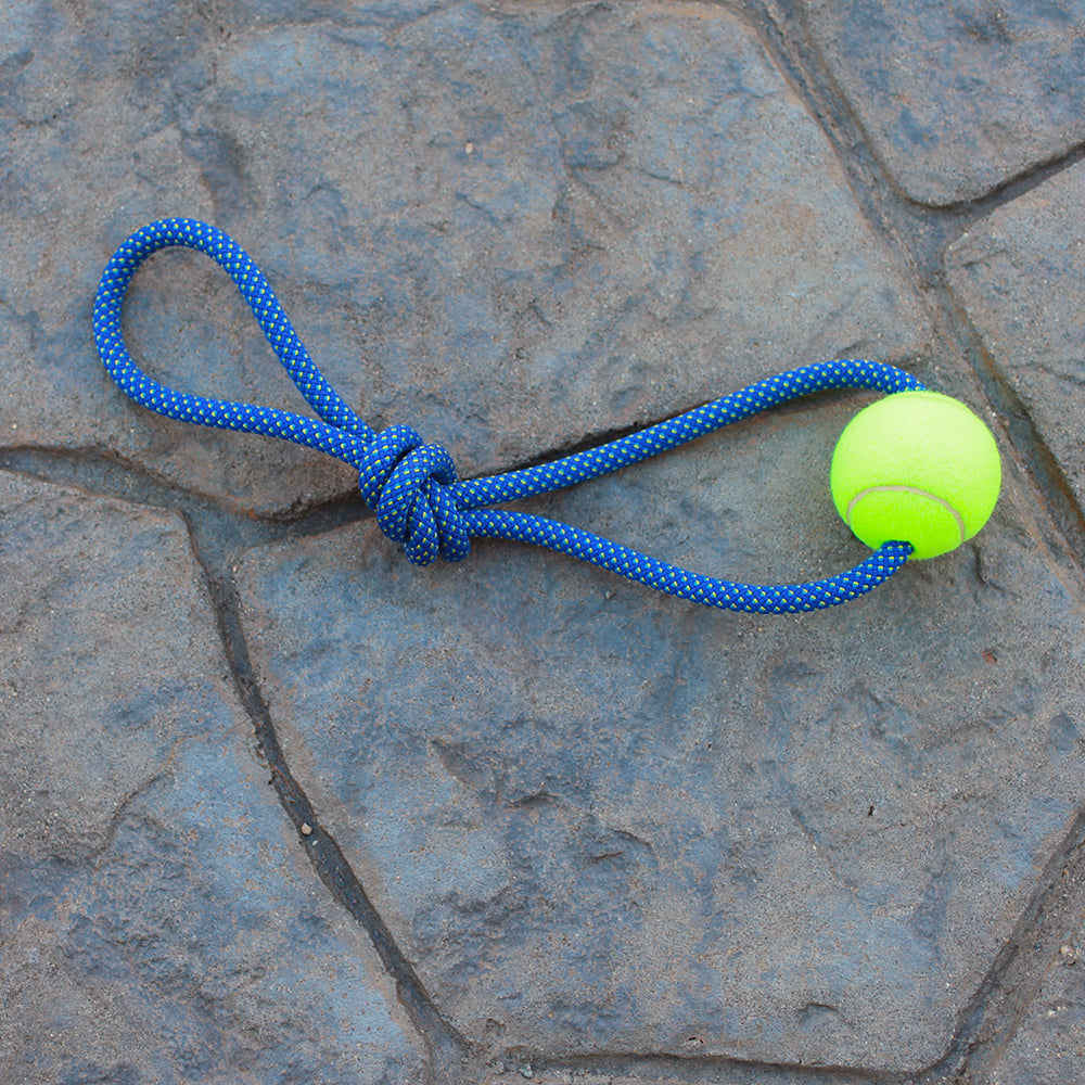 Climbing Rope Dog Toy - Single Ball | Changing Tides | Upcycled, Recycled, Repurposed, Reimagined