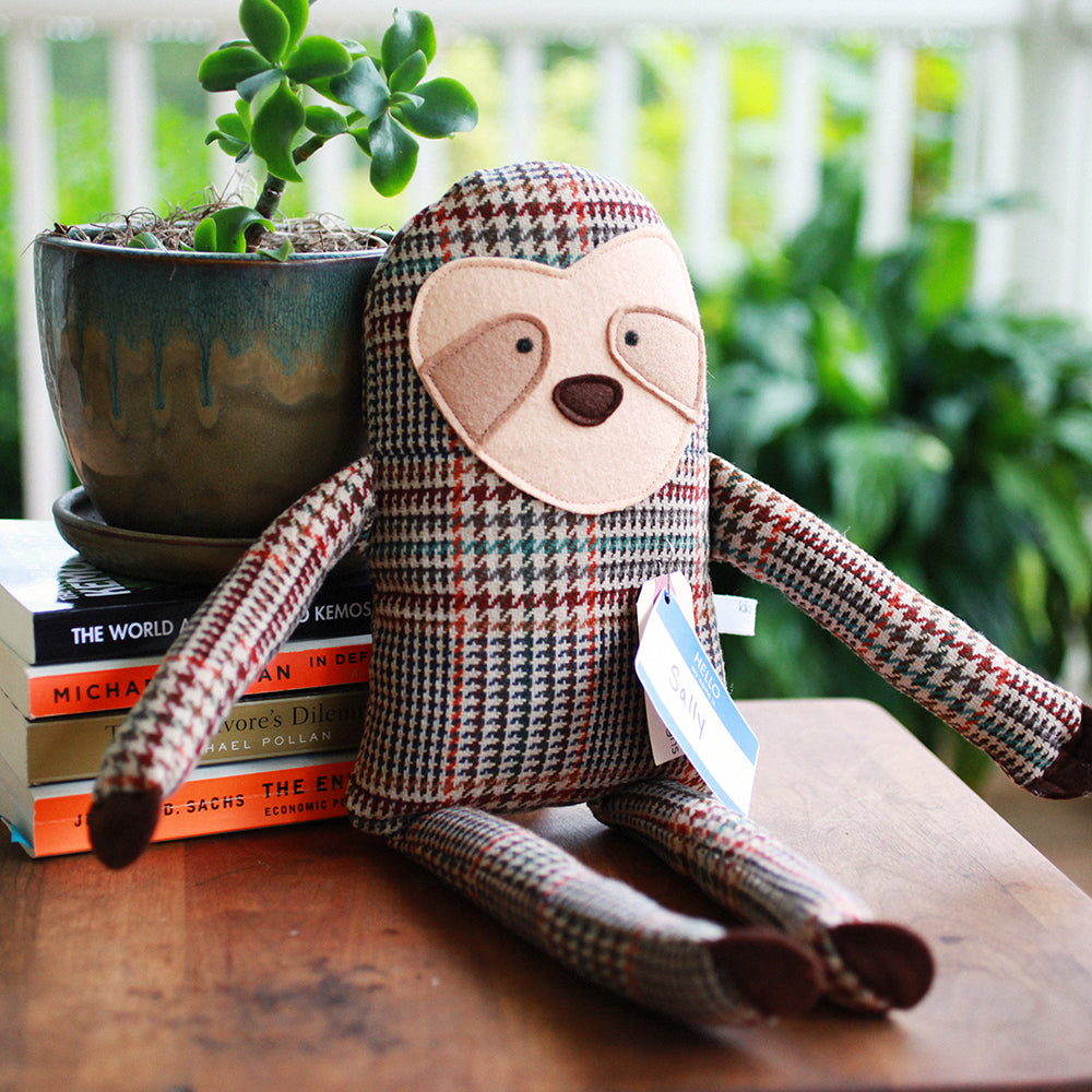 Upcycled Plush Sloth | Upcycled, Recycled, Repurposed, Reimagined | Seeds for Kindness