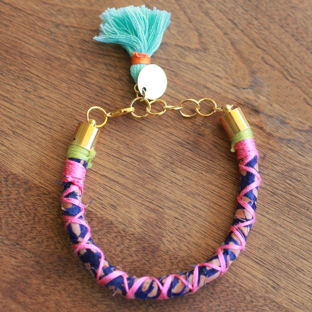 Gaia Tassel Bracelet | Upcycled, Recycled, Repurposed, Reimagined | Seeds for Kindness