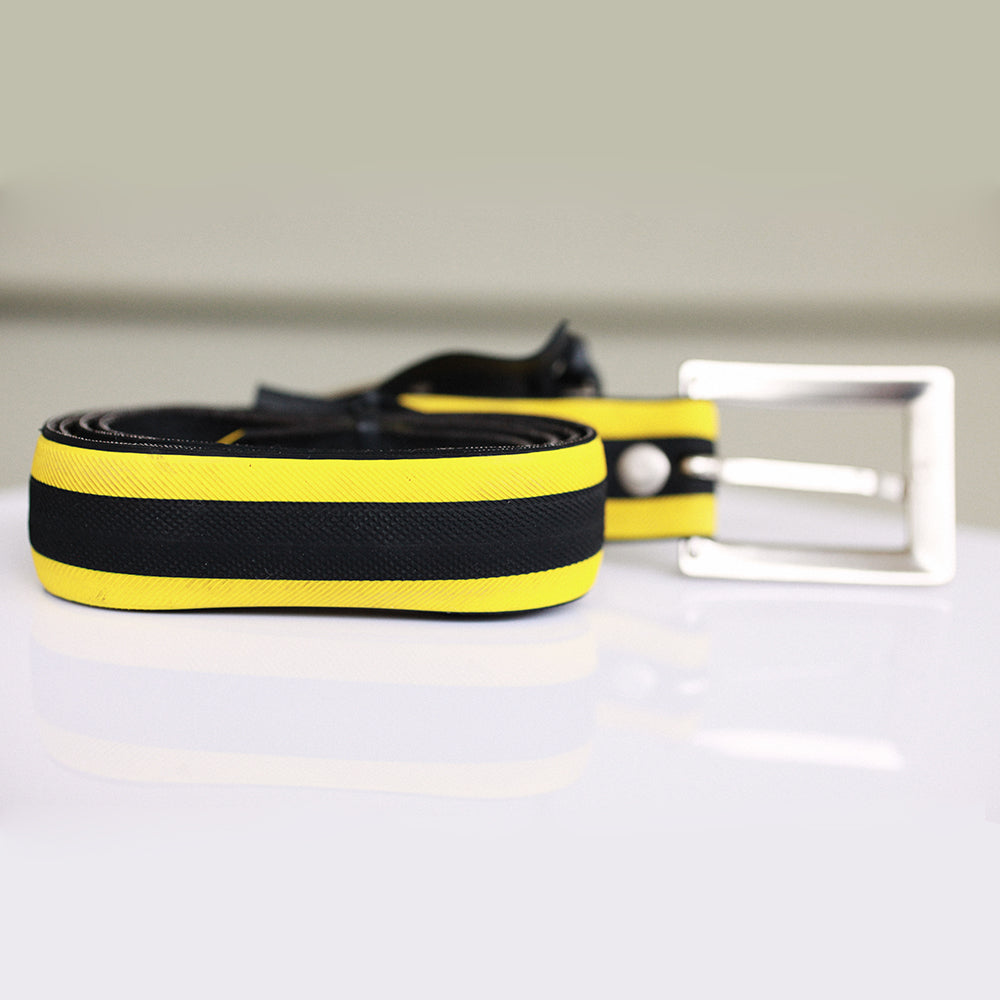 Bicycle Tire Belt - Yellow | Seeds for Kindness | Upcycled, Recycled, Repurposed, Reimagined