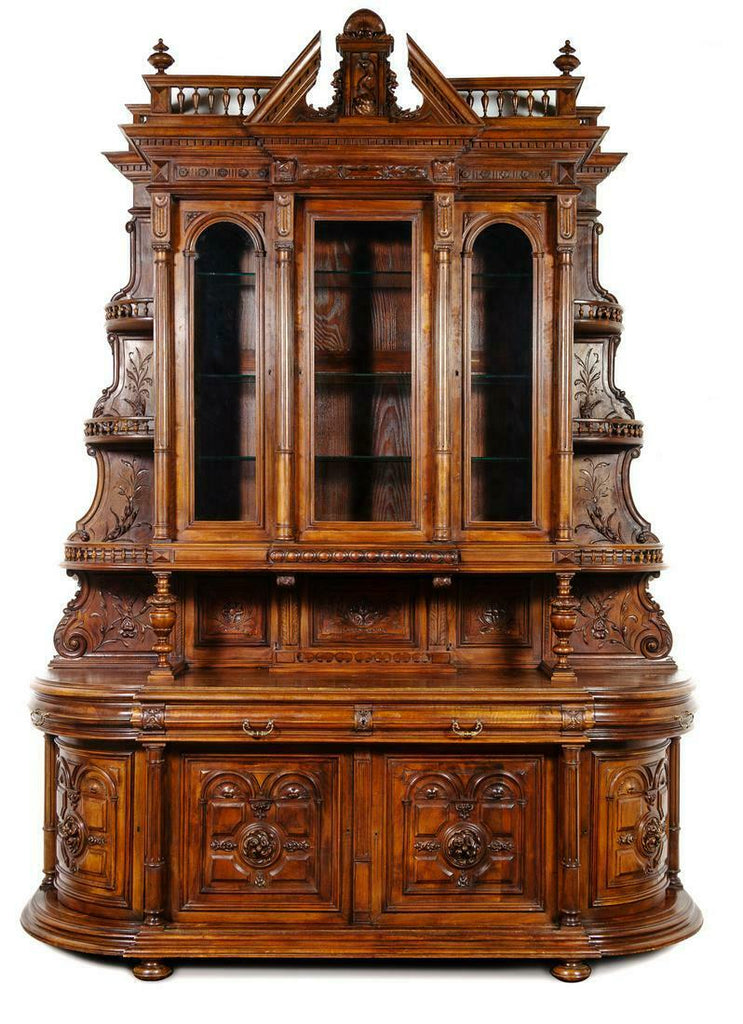 Antique Server, French Renaissance Revival Carved Walnut,1800s, Gorgeous!!