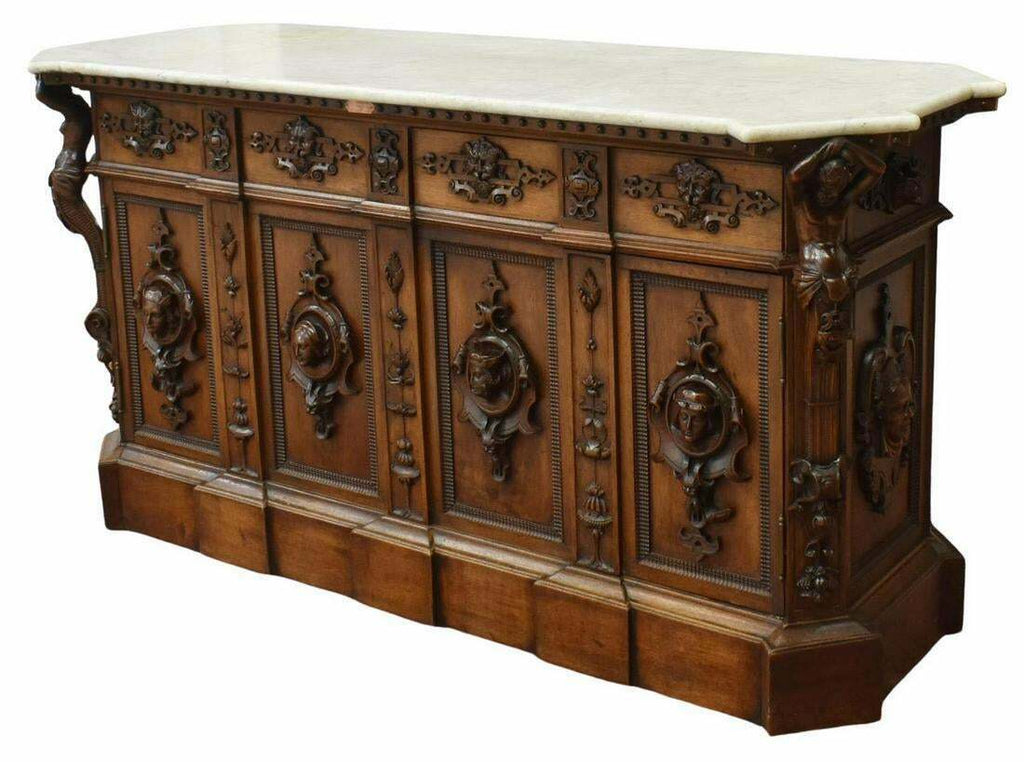 Antique Sideboard, Exceptional Renaissance Revival Walnut Sideboard,19th Century, 1800s!!!