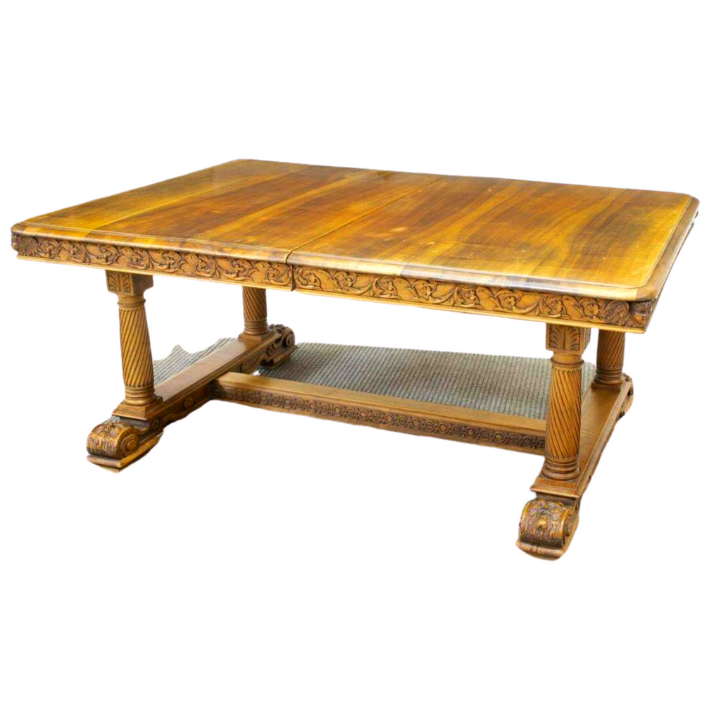 Antique Table, Dining, Extension, French Carved Walnut,19th C., 1800s, Gorgeous!!
