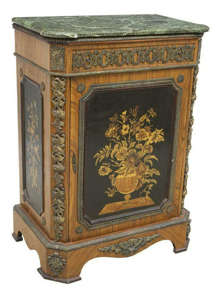 GORGEOUS FRENCH STYLE MARBLE-TOP SIDEBOARD CABINET!!