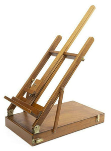 Vintage Easel, Folding Tabletop Artist's, Sturdy, Wooden, For Displays, 20th C.!!