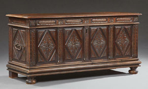 Chest, Coffer, French Provincial Carved Walnut, Early 19th C., 1800s, Gorgeous!!