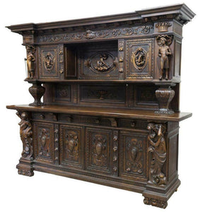 Antique Cupboard / Sideboard, French Renaissance Revival Figural,19th Century ( 1800s ), Gorgeous!!!