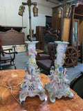 Two Stunning German Porcelain Lamps, Antique!! - Old Europe Antique Home Furnishings