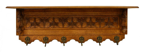 FRENCH GOTHIC REVIVAL COAT RACK 19th C 1800s