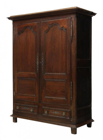 French Louis XV Carved Two-Door Armoire 18th century ( 1700s )