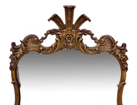 French Style Carved Giltwood Wall Mirror 19th-20th century