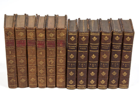 English Literature Volumes, Lot of 12, 18th Century ( 1700s ) - Old Europe Antique Home Furnishings