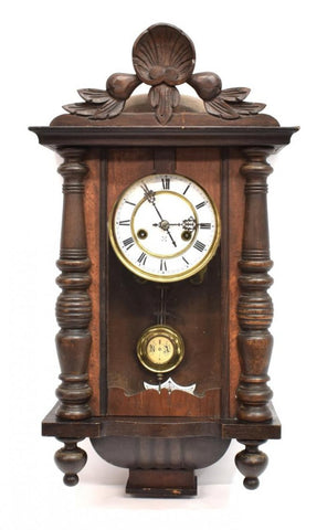 Vienna wall Clock, 19th century ( 1800s ) - Old Europe Antique Home Furnishings