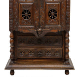 Highly Carved Breton Cabinet, 19th Century ( 1800s )