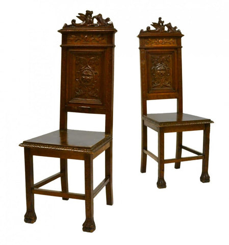 Italian Renaissance Revival Italian Hall Chairs