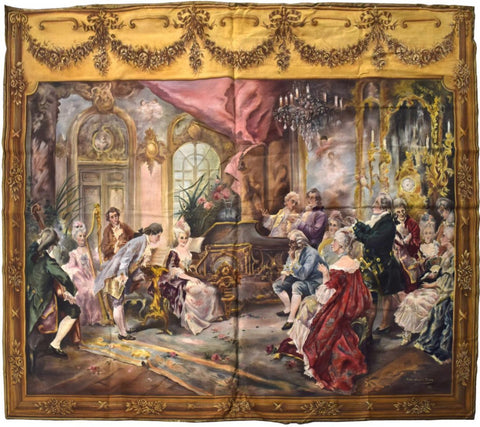 Spain Louis XV Style Painted Tapestry, early 1900s ( 1921)