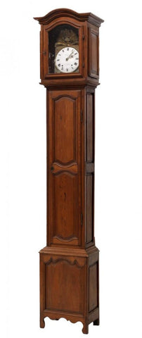 French Pine Cased Grandfather Clock, 19th Century