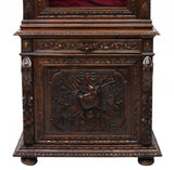 French Renaissance Revival Carved Display Cabinet Bookcase 19th century ( 1800s )