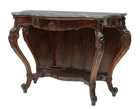 LARGE LOUIS XV STYLE MARBLE TOP CONSOLE TABLE LATE 19th Century (1800s)