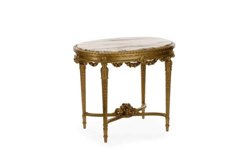 Antique Table, Rococo, Occasional, Louis XV, Marble Top, Beautiful 19th Century ( 1800s ) Table! - Old Europe Antique Home Furnishings