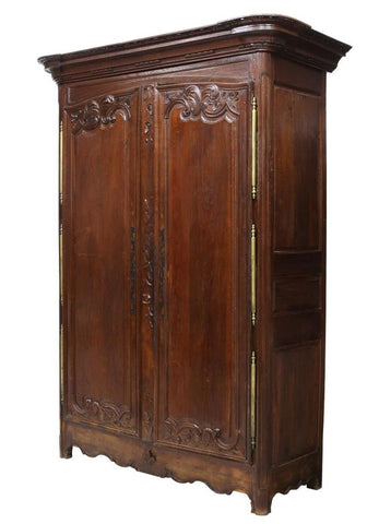 Impressive Large 18th Century French Louis XV Oak Armoire ( 1700s )