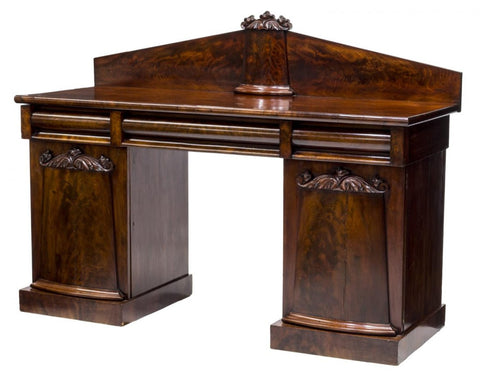 ENGLISH MAHOGANY PEDESTAL SIDEBOARD early 19th Century ( 1800s )