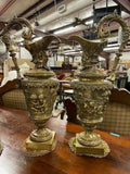 Garnitures, Bronze French Pair, French Bronze, Ewer-Form, 20th C.,Gorgeous Pair! - Old Europe Antique Home Furnishings