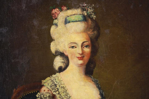 th century portrait of a w s old europe antique  18th century portrait of a w 1700s
