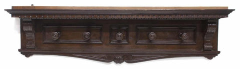 RENAISSANCE REVIVAL STYLE CARVED WALL HAT RACK, 19th Century ( 1800s ) - Old Europe Antique Home Furnishings
