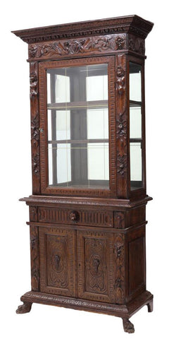 ITALIAN RENAISANCE REVIVAL DISPLAY CABINET, 19th century ( 1800s )