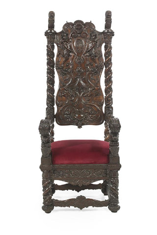 Monumental Mahogany Hall Chair, 19th century ( 1800s )