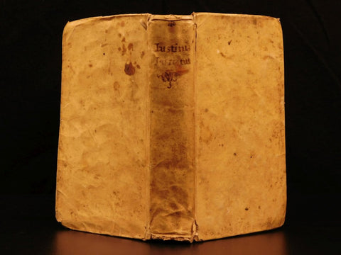 Antique Books, Justinian Institutes Roman LAW, 1775, Juris Civilis Latin 18th Century ( 1700s )!! - Old Europe Antique Home Furnishings