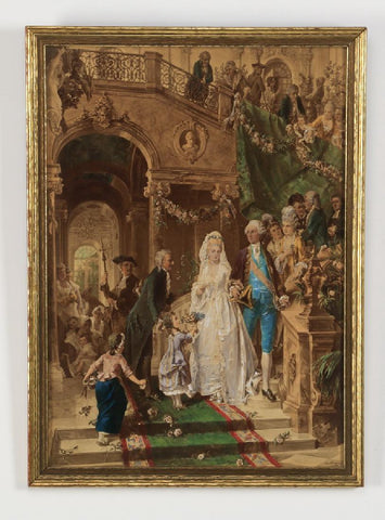 Carl Herpfer, late 19th c. chromolithograph, stamped ( 1800s ) - Old Europe Antique Home Furnishings