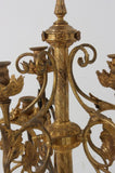 Gothic Gilt Bronze Floor Standing Candleabra, Antique, Beautiful Home Decor!! - Old Europe Antique Home Furnishings