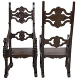 PAIR OF CHARMING FRENCH CARVED OAK EAGLE ARMCHAIRS, 19th century ( 1800s ) - Old Europe Antique Home Furnishings