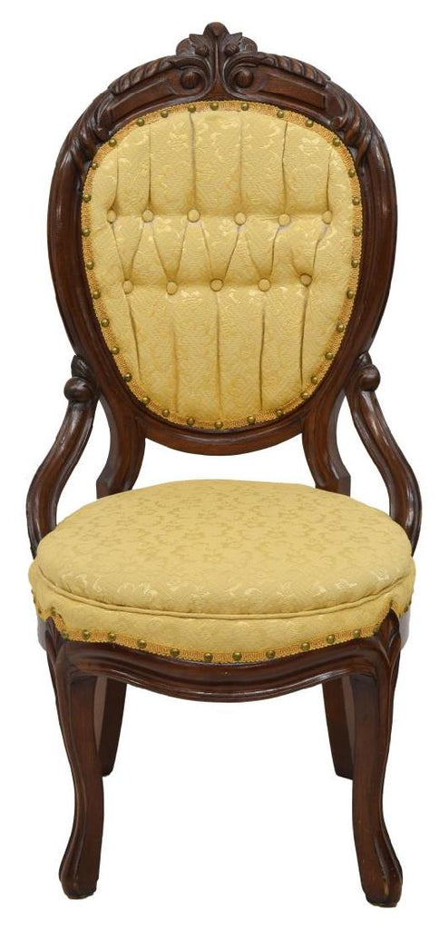 VICTORIAN SLIPPER CHAIR, Early 1900s