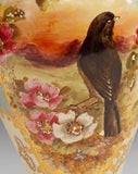 Vases, Continental, Hand Painted, Gorgeous Pair!!