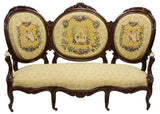 FRENCH CARVED FRAME MEDALLION BACK SOFA