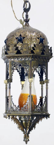 BEAUTIFUL MOORISH HANGING BRASS LANTERN!!!