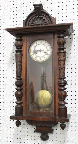 Antique Clock, Wall, Gustav Becker, Beautiful Home Decor!! - Old Europe Antique Home Furnishings