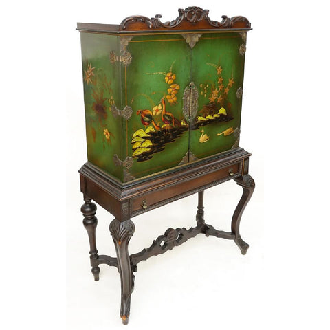 Queen Anne Style Painted Chest or Cabinet, early 1900s