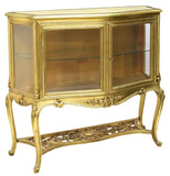 GORGEOUS ITALIAN ROCOCO GILTWOOD VITRINE, early 1900s!!! - Old Europe Antique Home Furnishings