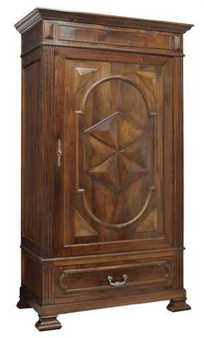 FRENCH LOUIS XIII SINGLE DOOR ARMOIRE, 19th century ( 1800s )