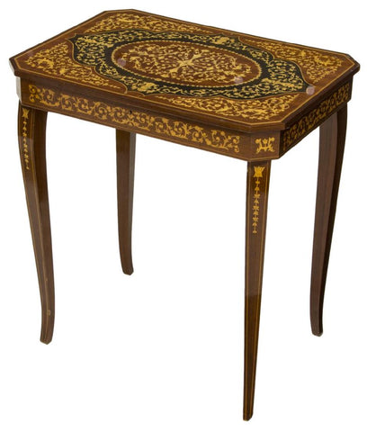 Table, Side, Italian Marquetry Musical, Charming, Vintage / Antique!! - Old Europe Antique Home Furnishings