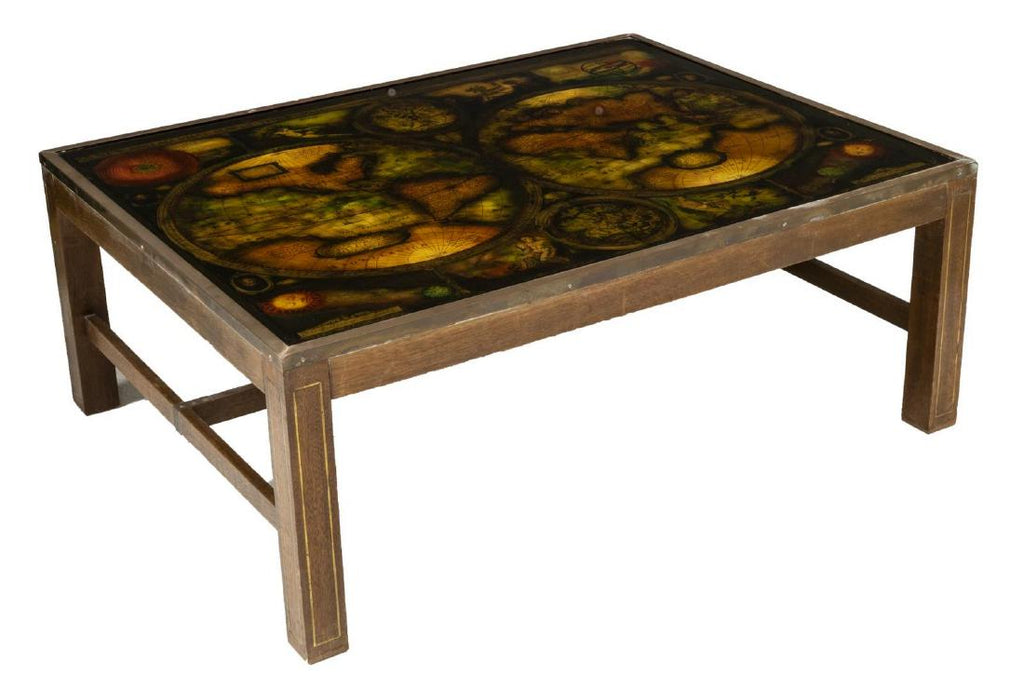 Old World Map Coffee Table.French Modern Ancient World Map Coffee Table Old Europe Antique