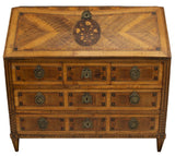 EXTRAORDINARY LARGE NEOCLASSICAL MARQUETRY BUREAU SECRETAIRE, 18th century ( 1700s ) - Old Europe Antique Home Furnishings