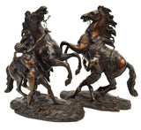 Bronze Marly Horses, Pair, Two, French, After Coustou, Signed, Fantastic Pieces - Old Europe Antique Home Furnishings