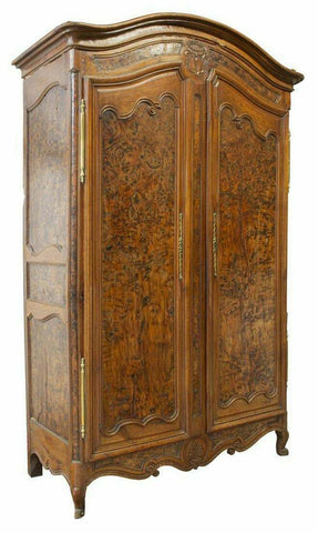 Antique Armoire, French Provincial Louis XV Style,1800's, Gorgeous Piece! - Old Europe Antique Home Furnishings