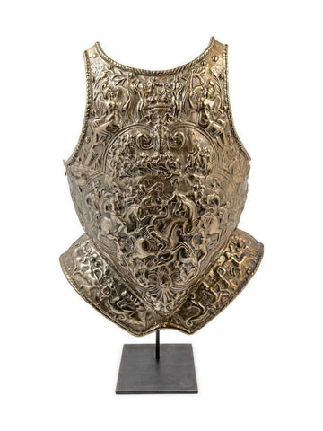 Breastplate, Cast Iron Model Handsome Piece, Great for a Man Cave! - Old Europe Antique Home Furnishings